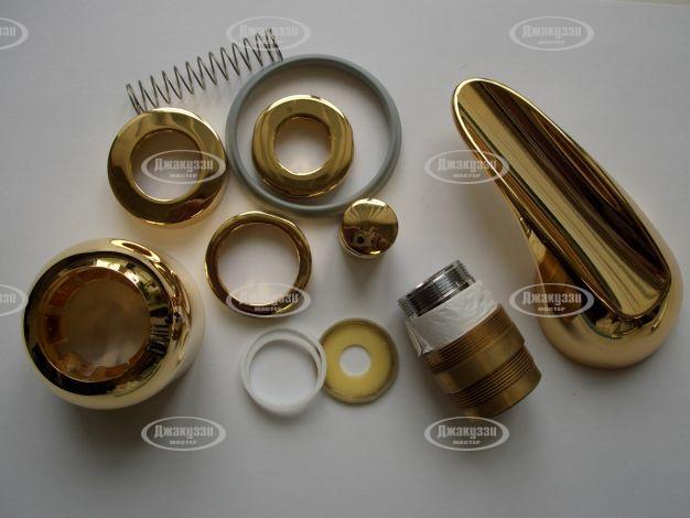 Набор декоративной отделки смесителя ванны (золото)